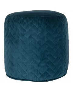 Kussen patchwork washed turquoise